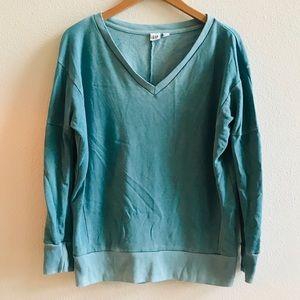 GAP women's turquoise sunwashed  sweatshirt S